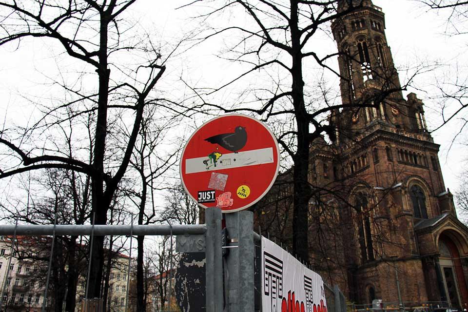 Street Art by Clet Abraham in Berlin